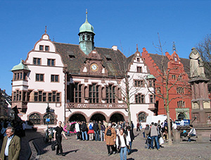 The medieval town hall or rathaus